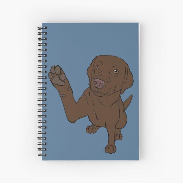 High Five Chocolate Labrador Cahier à spirale