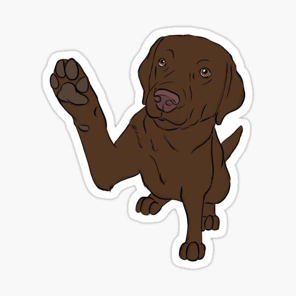 High Five Chocolate Labrador  Sticker