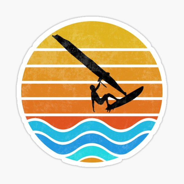Surf Windsurf Mer Ocean Board Sail Sunset Love Sticker
