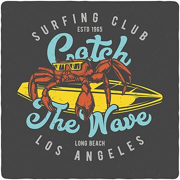 Surf Crab - Los Angeles by Taz-Clothing