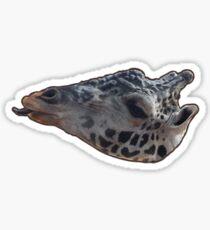Giraffe with brown outline Sticker
