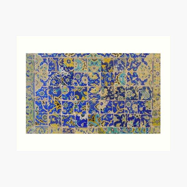 Masjed-e Shah - leftovers Art Print