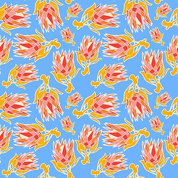 Australian Native Floral Pattern - King Protea by annaleebeer