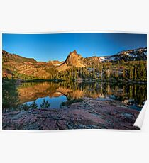 Lake Blanche at sunset Poster