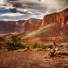 The Mountains of Capitol Reef - Utah by Kathy Weaver