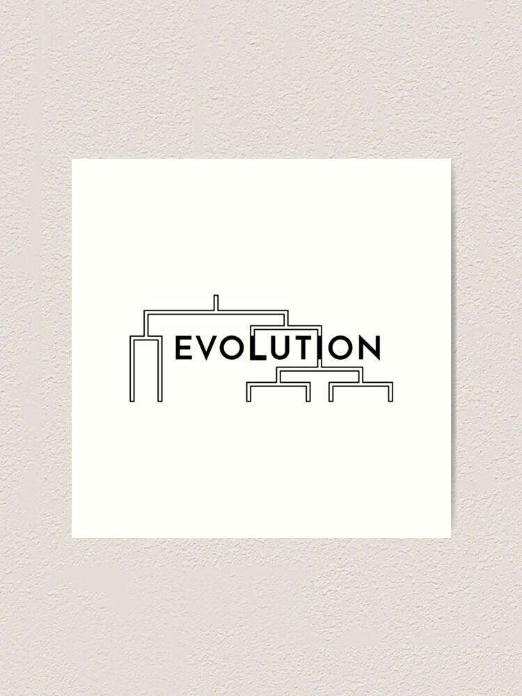 Alternate view of Evolution (Inverted) Art Print