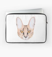 African Serval Cat Laptop Sleeve