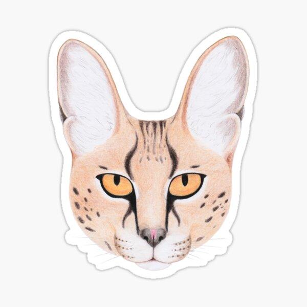 African Serval Cat Sticker