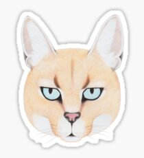 African Golden Cat Glossy Sticker