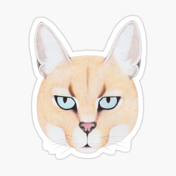 African Golden Cat Sticker
