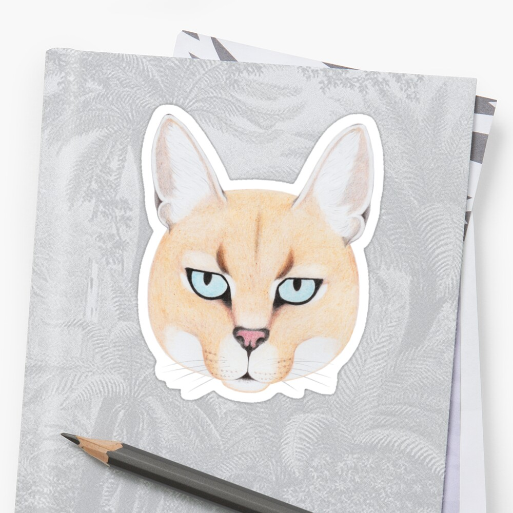 African Golden Cat Sticker