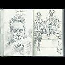 Sketchbook, Tube Riders, London by Cameron Hampton