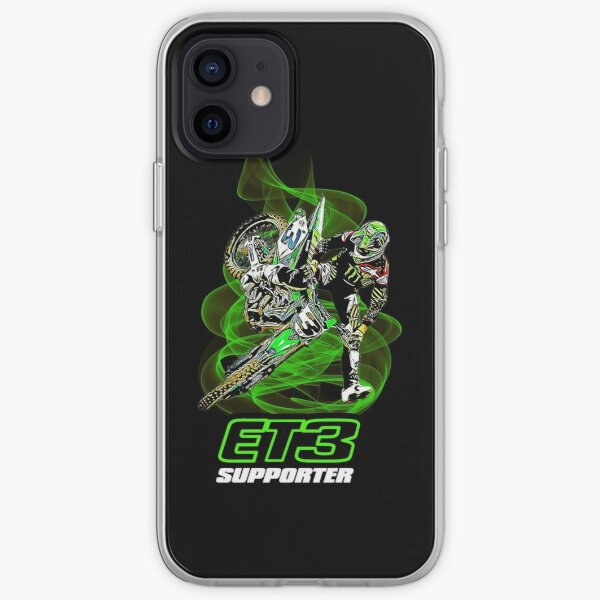 Eli Tomac ET3 Supporter Supercross et Motocross Champion Gift Design Coque souple iPhone