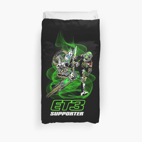Eli Tomac ET3 Supporter Supercross et Motocross Champion Gift Design Housse de couette