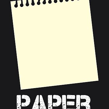 Paper Edition - Rock Paper Scissors Matching Gift Design by NBRetail