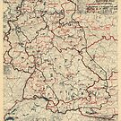 8. Juni 1945 Zweiter Armeegruppen-Lageplan des Zweiten Weltkrieges von allhistory