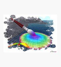 Rainbow brush Photographic Print