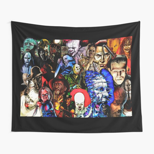 Collage Of Horror Tapestry