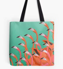 Fresko der Flamingos Tote Bag