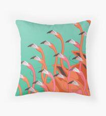 Fresco of the flamingoes Throw Pillow