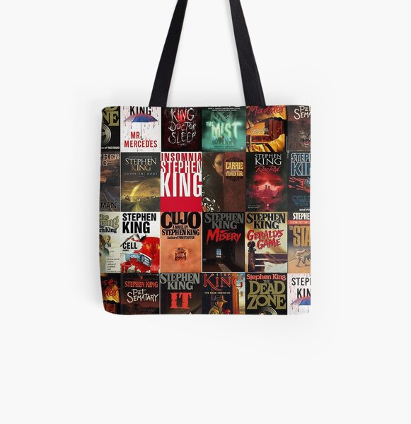 Stephen King - Book Covers All Over Print Tote Bag