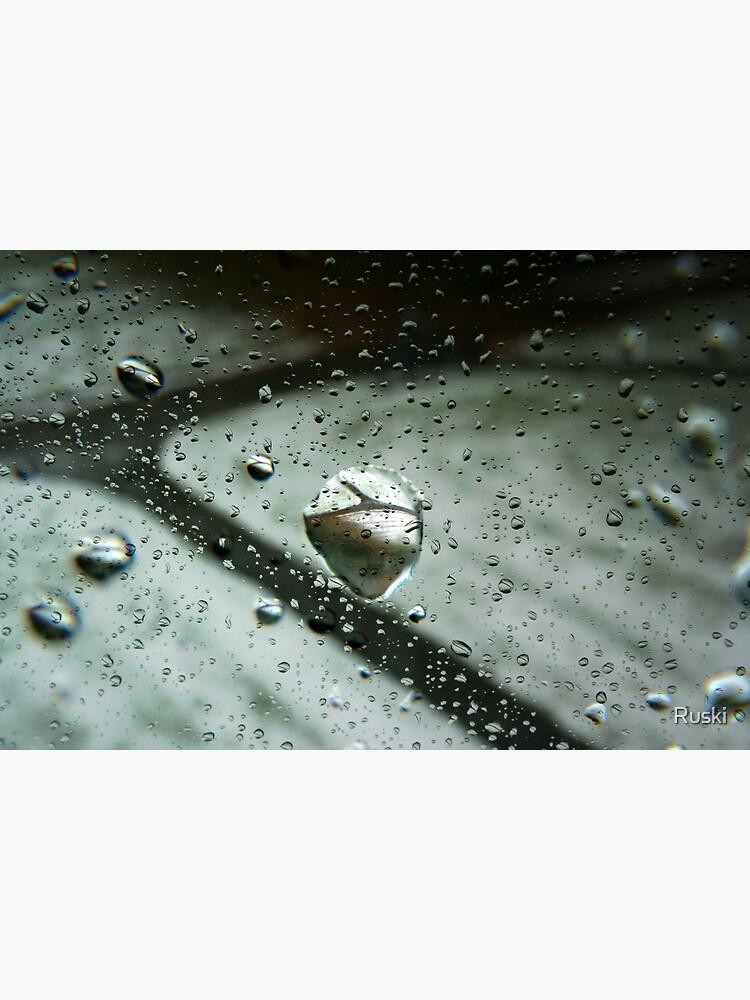 Raindrop Refractions by Ruski