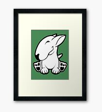 Side Sit English Bull Terrier  Framed Print