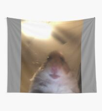 Hamster Staring at Phone Tapestry