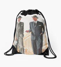 Vintage 1940s mens style Drawstring Bag