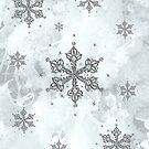 Glitter Schneeflocken Eis Frost Winter von Christine Krahl