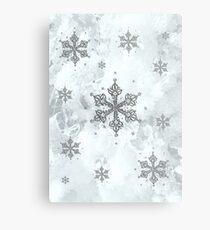 Glitter Schneeflocken Eis Frost Winter Metalldruck