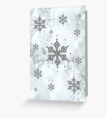 Glitter Schneeflocken Eis Frost Winter Grußkarte