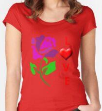 flower T-Shirt Women's Fitted Scoop T-Shirt