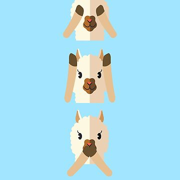 Alpaca Do not See Hear Speak by Wuselsusel