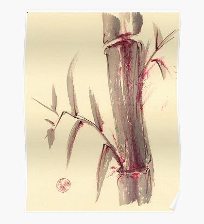 'moments'  -  mixed media bamboo wash painting Poster