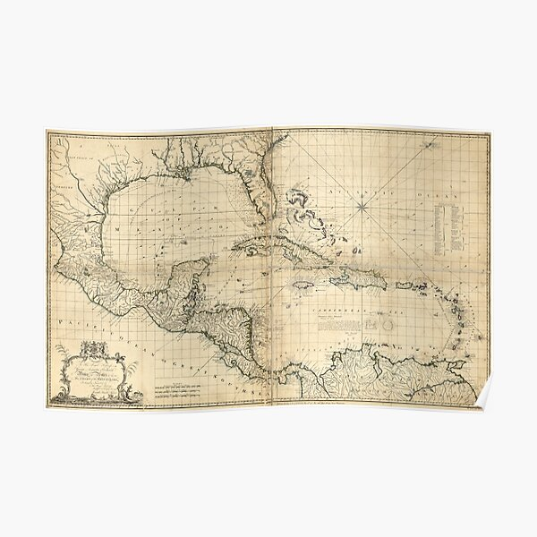 West Indies Map by Thomas Bowen & Joseph Speer (1774) Poster