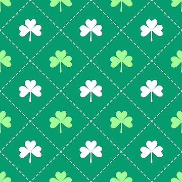 Shamrock leaves St patricks day irish pattern by mrhighsky