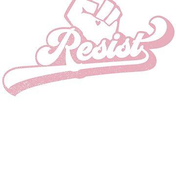 Resist Retro Design Feminism Womens March Shirt  by LuckyU-Design