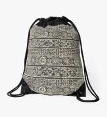Vintage pattern design Drawstring Bag