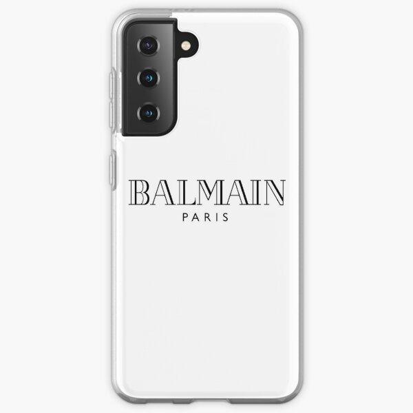 Logo Balmain Coque souple Samsung Galaxy
