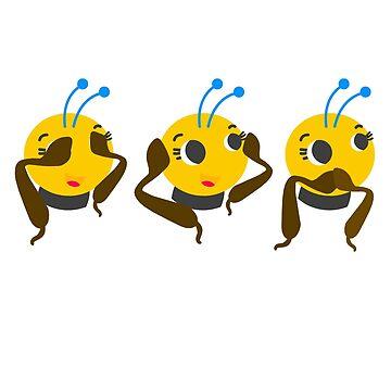 Bee Do not See Hear Speak by Wuselsusel