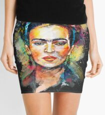 Frida Kahlo (Dark Edition) Mini Skirt