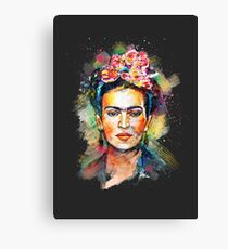 Frida Kahlo (Dark Edition) Canvas Print