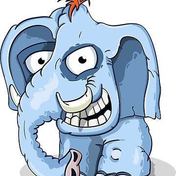 Blue funny elephant by Scirocko