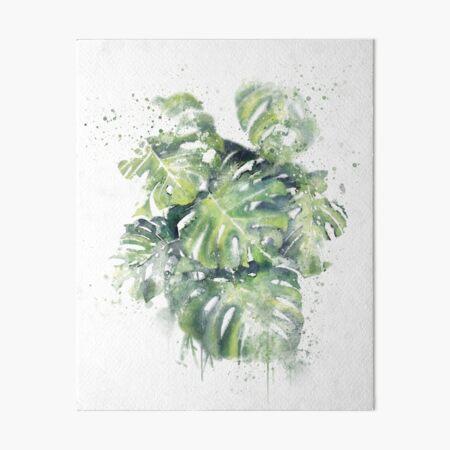 Monstera Plants- Abstract Tropical Art Art Board Print