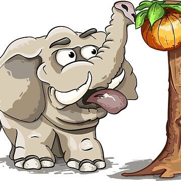 Elephant at the apple tree by Scirocko