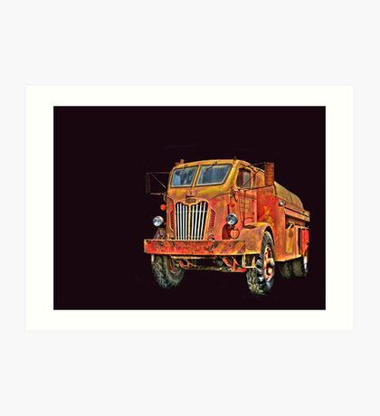 Water Truck  from Corvallis Oregon Art Print