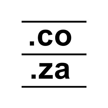 .co.za South Africa Internet Country Code design by GetItGiftIt