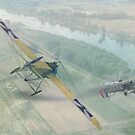 WW I Air Combat 9 by AH-Aviation-Art