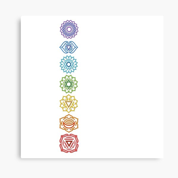 Chakras System Canvas Print